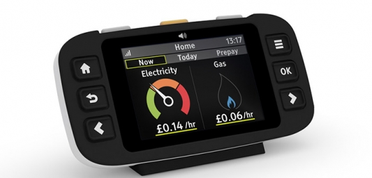 Smart meter with accessible in-home display